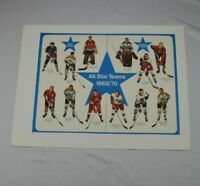 Vintage 1969 / 70 EXPORT A NHL Hockey Calendar All Star Team (top)
