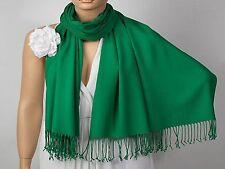 new soft Solid Plain Silk Pashmina Cashmere Scarf Shawl Wrap Stole neck warmer