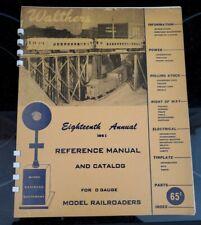 "VINTAGE Walthers ""O"" Gauge Catalog & Reference Manual 1951"