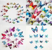3D Schmetterlinge 12er 24 36 Set Wanddekoration Wandtattoo Wandsticker Wanddeko