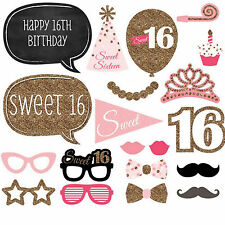 20Pcs Photo Booth Photobooth Sweet Sixteen Prom Birthday Props Party Prop DIY