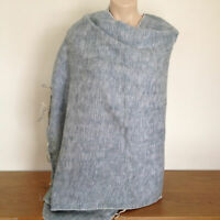 Yak Wool Shawl for Women - Nepalese Warm & Cosy Stole Grey & White Blend Scarf