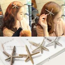 1Pc Korean Golden Mermaid Starfish Hair Clip Wedding Bride Hair Accessories