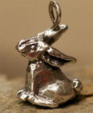 Bunny Rabbit Sterling Silver Pendant, Artisan Bad Bunny