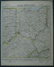 1883 LETTS MAP ~ UNITED STATES EASTERN OHIO KENTUCKY INDIANA WEST VIRGINIA