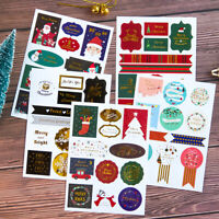 HOT Christmas Label Sticker Wrapping Labels for Gifts Scrapbooking 2 Sheets