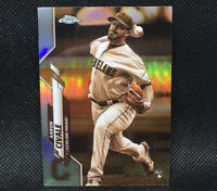 2020 Topps Chrome AARON CIVALE RC SEPIA REFRACTOR Cleveland Indians Rookie #143