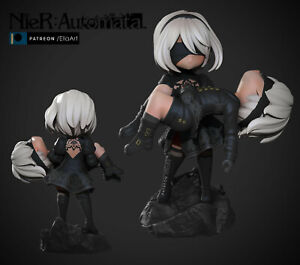 Chibi Nier Automata 2B and 9S fanart Figure Garage kit|Model kit|Not painted