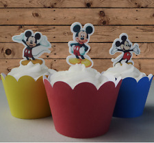 mickey mouse EDIBLE wafer stand up cupcake cake toppers birthday