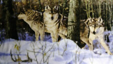 "Silent Trackers Timberwolf Wolves Tapestry Throw 48"" x 64"""