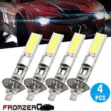 4Pcs H1 COB LED Car Headlight Hi/Lo Beam DRL Driving Light Bulb White 6000K NEW