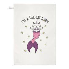 Sono un mer-cat-icorn TEA ASCIUGAMANO dish cloth-SIRENA caticorn CAT Unicorno