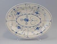 8340076 Porzellan Vorlege-Platte Elgersburg Strohblume Indisch Blau 19. Jh.