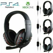 3.5mm Gaming Headset Mic Headphones For PC Computer Laptop PS4 Slim Pro Wired UK