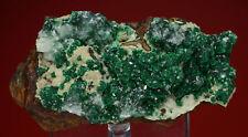 Malachite with Calcite Thomas Collection Copper Queen Mine, Arizona 812006