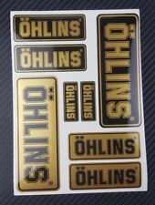 OHLINS shocks motorcycle decals high quality stickers metallic Ducati Kawasaki