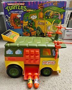 Teenage Mutant Ninja Turtles VINTAGE Turtle Party Wagon Playmates w/Box COMPLETE