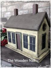 Primitive Unique Cottage style Birdhouse 2 holes Pattern/Plan WN166