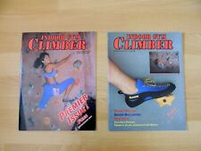 Indoor Gym Climber Magazine, 1st & 2nd Issues, Jan/Feb 2000 + Spring 2000, Rare!
