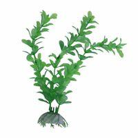 3X(Kuenstliche Pflanzen Wasser Gruen Kunststoff Aquarium Dekoration 20cm U5G2 MS