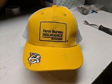Farm Bureau Insurance Tennessee Hat Cap Hockey Predators Snap Back Mesh Trucker