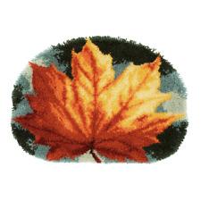 Autumn Leaf Latch Hook Kit  Rug Making Kit 70x50cm By Vervaco Inc tool & binding