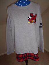 UNISEX VINTAGE Disney Mickey Mouse Sweatshirt Jumper 28 on back Medium RARE A14