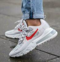 Nike Air Max 270 React Men's Shoes Grey Safari Camo UK 11 EU 46 US 12 CMS 30