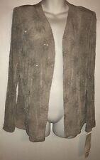 En Francais Jacket Ladies Embellished Grey Polyester Blend Size 12 NWT $220