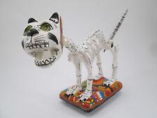 TALAVERA CAT  CATRINA kitten mexican folk art day of the dead    dia de muertos