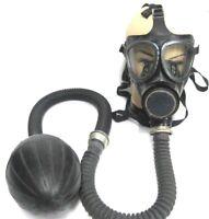 schwarze Gasmaske Gummi Pumpe  Halloweenartikel Latex Fetisch Poppers Beatmung