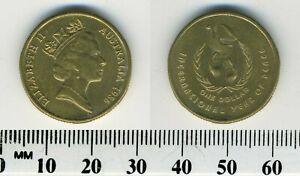 Australia 1986 - 1 Dollar Aluminum-Bronze Coin - International Year of Peace -#1
