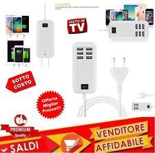 Caricatore USB da tavolo 6 Porte MULTIPLO 20W Power Alimentatore CASA UFFICIO