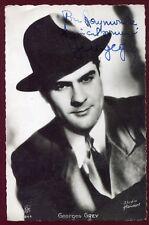 AUTOGRAPHE de Georges Grey . acteur Français . photo dédicacée de 1943