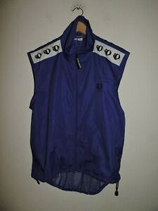Pearl Izumi Technical Wear Cycling Vest Size Blue Full Zip Large