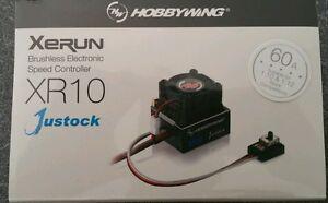 HOBBYWING XR10 60 AMP JUSTOCK ESC SENSORED CNC CASE ,GENUINE PRODUCT SEALED