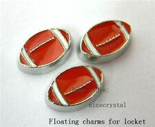 10pcs Floating Football charms For Glass living memory Locket  FC049 Free ship