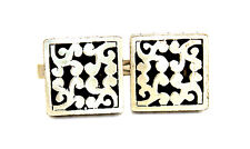 BIG Vintage 1950s HARVEY AVEDON Sterling Silver ORNATE CUT OUT Design Cufflinks