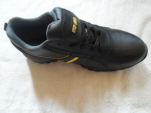 Black Leather Memphis Safety Work Shoe Trainer from Step Ahead