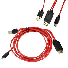 2M 6Ft 1080P Micro USB MHL a HDMI Cable Adaptador Hdtv Samsung Galaxy S3 S4 Note 2