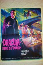 DRACULA prince des tenebres  !  hammer film affiche cinema vampire  rare  1965