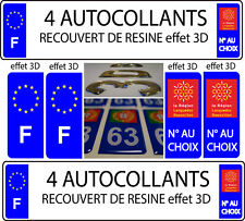 4 adesivi targa TUNING EFFETTO DOMING 3D RESINA LANGUEDOC ROUSSILLON