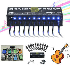 10-isolated Output Power Supply for 9v 12v 18v Guitar Effect Pedal Boards UK