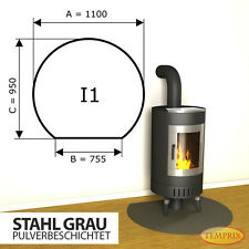 ✔ Kaminbodenplatte Funkenschutz Ofenplatte ✔ Kaminofenplatte Stahl grau I1 ✔