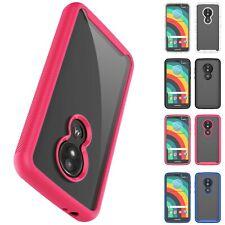 For Motorola Moto E5 Play / Edge+ Plus Case Clear Slim Hard Hybrid Rugged Cover