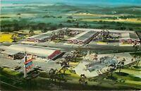Huntsville Alabama~Albert Pick Motel~Birdseye~Artist Drawn~1950s Postcard