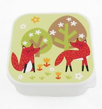 Sass and Belle Square SPRING Fox Bento Snack Box Lunch School Picnic New