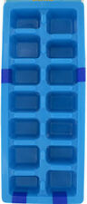 Easy Release Plastic Ice Cube Tray Pack of 2 ~ Blue