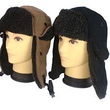 daf0abb9623 Trapper Hat Mens XL Women Unisex Fleece Winter Ski Russian Camel 60cm Strap  Tags