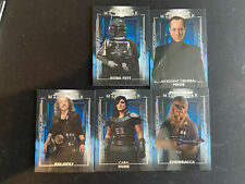 2020 Star Wars Masterwork Blue parallel lot 5 cards